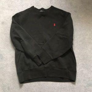 Polo Ralph Black Crewneck Sweatshirt